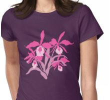 Pink graphic orchid cattleya Womens Fitted T-Shirt