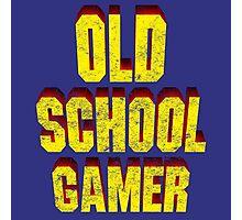 Old School Gamer Photographic Print