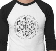geometric Men's Baseball ¾ T-Shirt