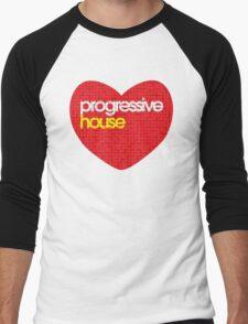 Progressive House Music Men's Baseball ¾ T-Shirt