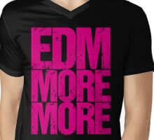 EDM MORE MORE (pink) Mens V-Neck T-Shirt
