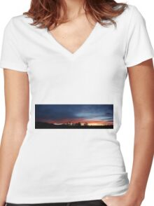I'll watch you till you settle. Women's Fitted V-Neck T-Shirt