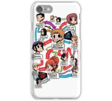 Scott Pilgrim relationship map iPhone Case/Skin