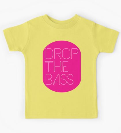 Drop The Bass (geometric) Kids Tee