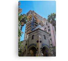 Hollywood Terror Tower Metal Print