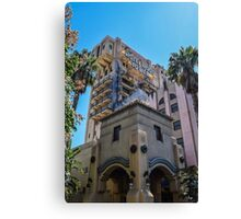 Hollywood Terror Tower Canvas Print
