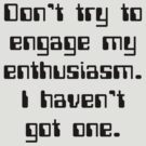 Don't Try To Engage My Enthusiasm by Nwyvre