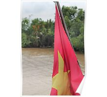 Vietnam Flag: Mekong River, South-East Asia Poster