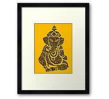 Ink Rain Ganesha Framed Print
