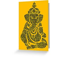 Ink Rain Ganesha Greeting Card