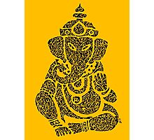 Ink Rain Ganesha Photographic Print