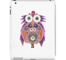 Momma Owl with Red Fez iPad Case/Skin