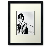 Hepburn Ink'd Framed Print