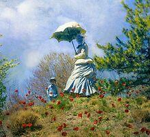 Woman with Parasol by John Rivera