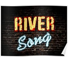 River Song Typography Poster