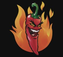 Evil red hot chili pepper by Colin Cramm