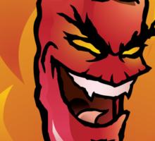 Evil red hot chili pepper Sticker