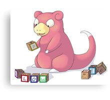 Pokemon Slowpoke Canvas Print