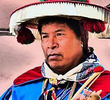 portrait of an indian huichol II - retrato de un indigena huichol by Bernhard Matejka