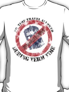 Doctor Who No Time Travel Allowed College Uni Worn Look T-Shirt