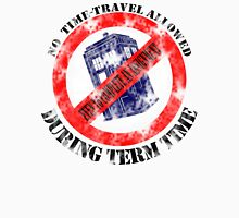 Doctor Who No Time Travel Allowed College Uni Worn Look Unisex T-Shirt