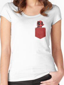 Deadpool in Your Pocket! Women's Fitted Scoop T-Shirt