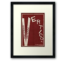 Vertigo - Poster minimalista, Alfred Hitchcock - James Stewart, Kim Novak, póster de pelicula, cartel retro, ilustración Framed Print