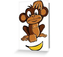 Confused monkey Greeting Card