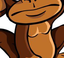 Confused monkey Sticker