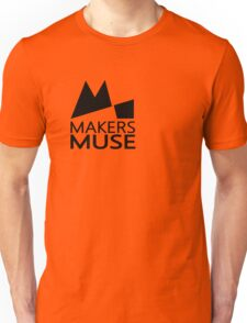 Alternative Makers Muse Brand Simple Black Unisex T-Shirt