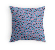 Strawberry Blues Throw Pillow