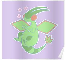 Flygon & Hearts Poster
