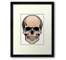 Human skull frontal view Framed Print