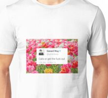 CATS OR GTFO (with flowers) Unisex T-Shirt