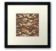 Military camouflage pattern 7 Framed Print