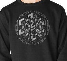 geometric (white) Pullover