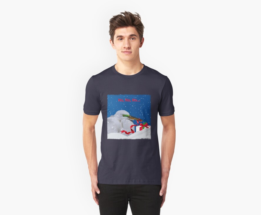 Grumpy Egret Christmas Shirt by Delores Knowles