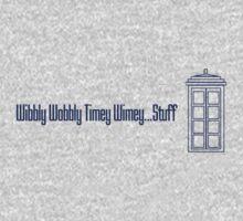Wibbly Wobbly Timey Wimey...Stuff (version 2) Kids Tee