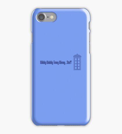 Wibbly Wobbly Timey Wimey...Stuff (version 2) iPhone Case/Skin