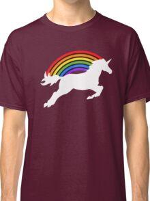 Retro Rainbow Unicorn Classic T-Shirt