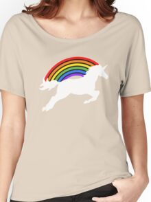 Retro Rainbow Unicorn Women's Relaxed Fit T-Shirt
