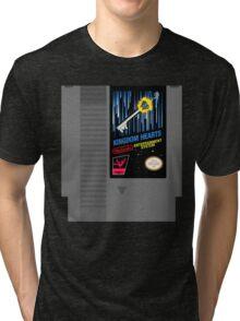 Kingdom Hearts NES Cartridge Tri-blend T-Shirt