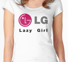 LG - Lazy Girl Women's Fitted Scoop T-Shirt