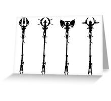 Elemental Staffs [CoD Zombies] Greeting Card
