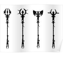 Elemental Staffs [CoD Zombies] Poster