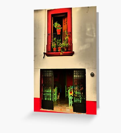 face of a building - fachada Greeting Card