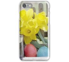 Easter Eggs and Daffodils iPhone Case/Skin