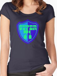 Super 71 - Shield - Blue Women's Fitted Scoop T-Shirt
