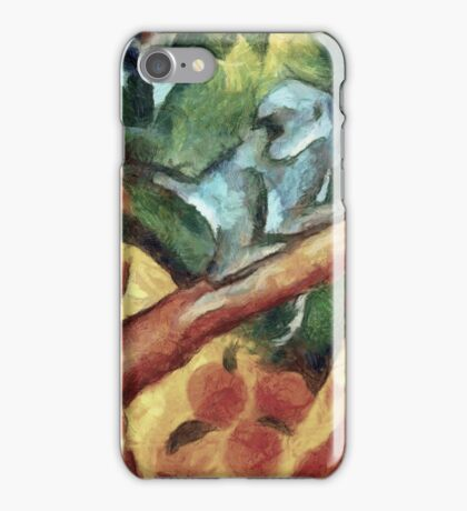 Monkey After Franz Marc, 1912 iPhone Case/Skin