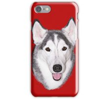 Siberian Husky on the Alert iPhone Case/Skin